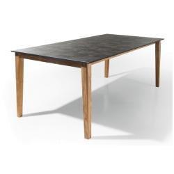 NOXO • ausziehbarer Gartentisch  200-300cm • Teakgestell • HPL-Platte in div. Farben • 2x50cm Einlegeplatten • PAVILLA