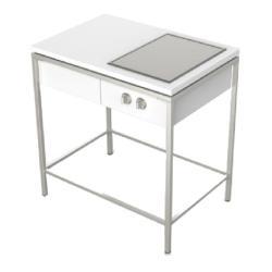 OUTDOORKÜCHE • Küchenmodul mit 1 Lade & 1 Ausschnitt • 90x62cm • Edelstahl / Corian® • VITEO
