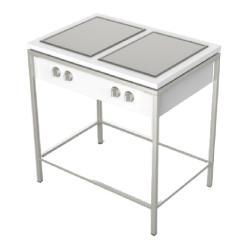 OUTDOORKÜCHE • Küchenmodul mit 2 Ausschnitten • 90x62cm • Edelstahl / Corian® • VITEO