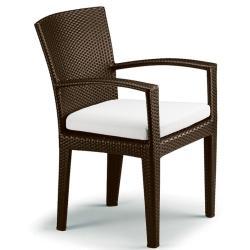 PANAMA • Gartenstuhl mit Armlehnen • Bronze • Sitzkissen exklusive • DEDON