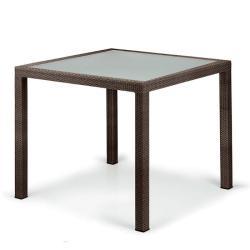 PANAMA • Gartentisch / Esstisch • 100x100cm • inkl.Glasplatte • Bronze • DEDON