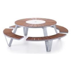 PANTAGRUEL • Gartentisch-/Bank-Kombination • Gestell galvanisiert • EXTREMIS