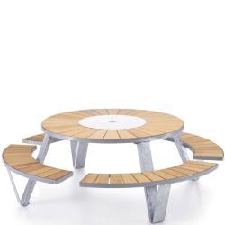 PANTAGRUEL picnic • Gartentisch-Bank-Kombination • Gestell Stahl feuerverzinkt • EXTREMIS
