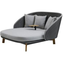 PEACOCK • Daybed inkl. Tisch• Grey/ Light Grey • cane-line