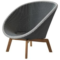 PEACOCK • Loungesessel / Loungechair • Grau / Hellgrau • cane-line