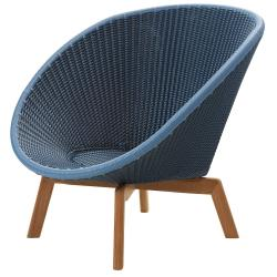 PEACOCK • Loungesessel / Loungechair • Midnight / Dusty Blue • cane-line