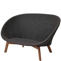 PEACOCK ROPE • Outdoor 2-Sitzer-Sofagestell • Soft Rope Dunkelgrau • exkl.Kissensatz • Cane-line