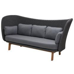 PEACOCK  Wing • 3-Sitzer Sofa• Dark Grey • cane-line