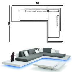 PLATFORM • Kombination 1 • Lounge Sofasystem mit LED-Beleuchtung • RAUSCH CLASSICS
