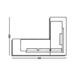 PLATFORM • Kombination 2 • Lounge Sofasystem mit LED-Beleuchtung • RAUSCH CLASSICS