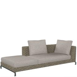 RAY OUTDOOR NATURAL • Loungemodul Chaise Longue • 235cm LINKS • B&B Italia