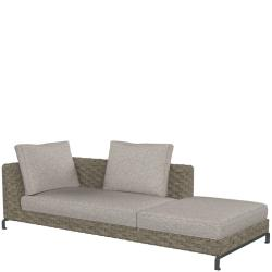 RAY OUTDOOR NATURAL • Loungemodul Chaise Longue • 235cm RECHTS • B&B Italia