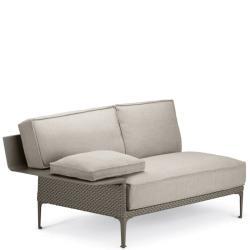 RAYN • Loungemodul Armlehne RECHTS • Polster exklusive • Salina oder Veneto • DEDON