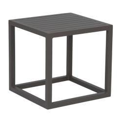 ROBIN • Outdoor Beistelltisch / Loungetisch • Taupe mit Aluminiumleisten in Taupe • STERN
