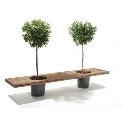 Romeo & Juliet • Sitzbank mit Pflanzenkübel • EXTREMIS