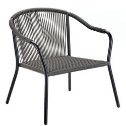 SAMBA • Outdoor Loungesessel / Stapelstuhl • Gestell aus Aluminium Schwarz oder Bronze • ROYAL BOTANIA