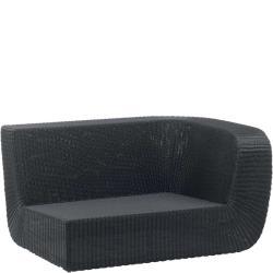 SAVANNAH • Outdoor 2-Sitzer-Loungemodul LINKS • Geflecht Weiss oder Schwarz • Cane-line