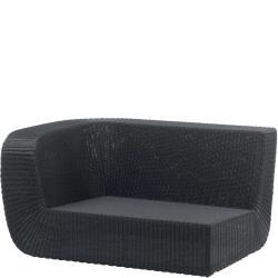 SAVANNAH • Outdoor 2-Sitzer-Loungemodul RECHTS • Geflecht Weiss oder Schwarz • Cane-line