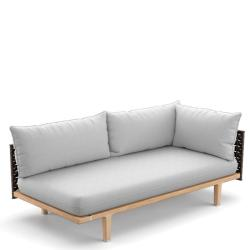 SEALINE  • Loungemodul LINKS-Element •  Kunstfaser-Bespannung • Titan oder Silver-Beige • Polster exklusive • DEDON
