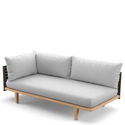 SEALINE  • Loungemodul RECHTS-Element •  Kunstfaser-Bespannung • Titan oder Silver-Beige • Polster exklusive • DEDON