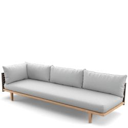 SEALINE  • Loungemodul RECHTS-Element XL •  Kunstfaser-Bespannung • Titan oder Silver-Beige • Polster exklusive • DEDON
