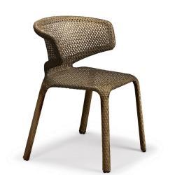 SEASHELL • Gartenstuhl mit Armlehne / Stapelstuhl • Bronze • Sitzkissen exklusive • DEDON