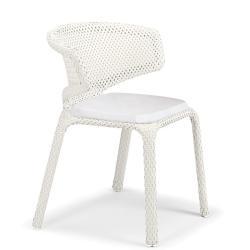 SEASHELL • Gartenstuhl mit Armlehne / Stapelstuhl • Chalk • Sitzkissen exklusive • DEDON