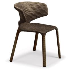 SEASHELL • Gartenstuhl mit Armlehnen / Stapelstuhl • Bronze • DEDON