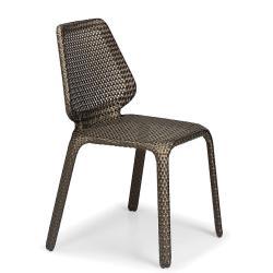 SEASHELL • Gartenstuhl / Stapelstuhl • Bronze • Sitzkissen exklusive • DEDON