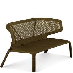 SEASHELL • Outdoor 2-Sitzer Sofa • Bronze • Sitzkissen exklusive • stapelbar • DEDON