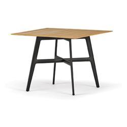 SeaX • Gartentisch / Esstisch • 100x100cm • Teak/Schwarz • DEDON