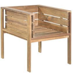 SEVILLA • Gartenstuhl mit Armlehnen • recyceltes Teak • BOREK