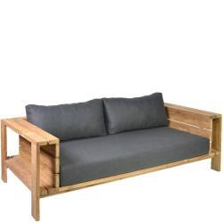 SEVILLA • Outdoor 3-Sitzer-Sofa • recyceltes Teak • inkl.Polster • BOREK