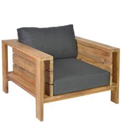 SEVILLA • Outdoor Loungesessel / Loungechair • recyceltes Teak • inkl.Polster • BOREK