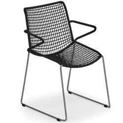 SLOPE • Gartenstuhl mit Armlehnen / Stapelstuhl • Kordelbespannung in Schwarz oder Sand • WEISHÄUPL