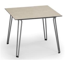 SLOPE • Gartentisch / Esstisch • 90x90 • Gestell Edelstahl • div.Tischplatten • WEISHÄUPL
