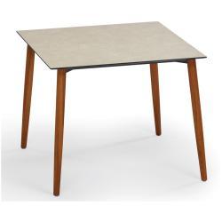 SLOPE • Gartentisch / Esstisch • 90x90 • Gestell Teak • div.Tischplatten • WEISHÄUPL