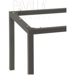 STERN • Tischgestell 130x80cm • Aluminium • Vierkantrohr • anthrazit pulverbeschichtet