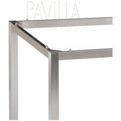 STERN • Tischgestell 130x80cm • Edelstahl • Vierkantrohr