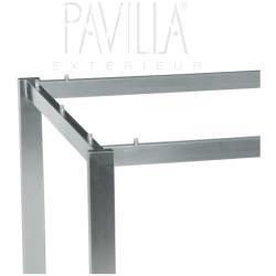 STERN • Tischgestell 200x100cm • Edelstahl • Rechteckrohr
