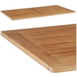 STERN • Tischplatte 130x80cm • aus recyceltem Old-Teakholz
