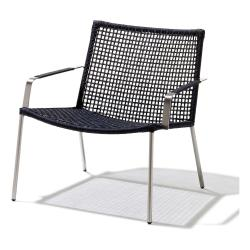 STRAW • Loungesessel / Loungechair • cane-line Rope Anthrazit • cane-line