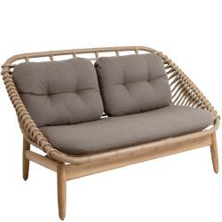 STRING TEAK • Outdoor 2-Sitzer Sofa • Farbe Natur • Cane-line