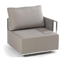 SUITE • Lounge-Modul Armlehne LINKS • Edelstahl • div.Polsterbezüge wählbar • FISCHER