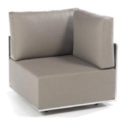 SUITE • Lounge-Modul ECKE • Edelstahl • div.Polsterbezüge wählbar • FISCHER
