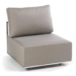 SUITE • Lounge-Modul MITTE • Edelstahl • div.Polsterbezüge wählbar • FISCHER
