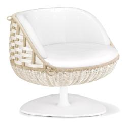 SwingMe • Lounge-Sessel • 360° drehbar • Chalk • DEDON