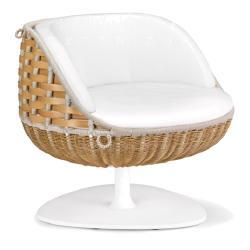 SwingMe • Outdoor Loungesessel / Loungechair • 360° drehbar • Natural • DEDON