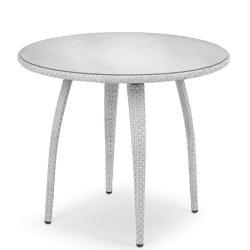 TANGO • Bistrotisch Ø90cm • Bronze oder Basalto • inkl.Klarglasplatte • DEDON