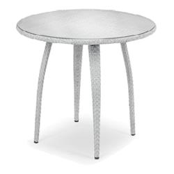 TANGO • Bistrotisch Ø90cm • Bronze oder Basalto • inkl. Klarglasplatte • DEDON